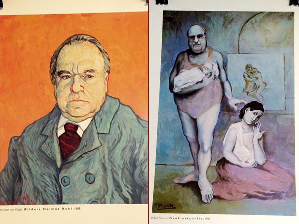 Kalenderblätter Kohl im Van Gogh und Picasso-Stil (©W. Herrndorf)