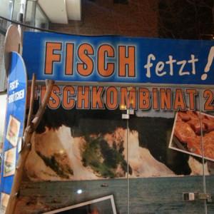 Fischwerbung im Süden (©Anne Schüchner)