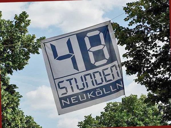 Wimpel des Kunstfestivals 48 Stunden Neukölln (Foto: Anne Schüchner)