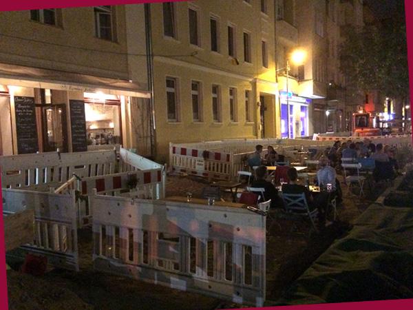 Restaurant auf der Pappelallee (©Anne Schüchner)