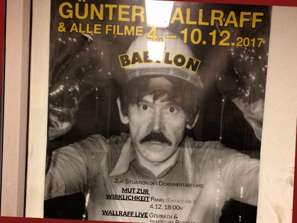 Filmplakat Günter-Wallraff-Retro (© babylonberlin.eu )
