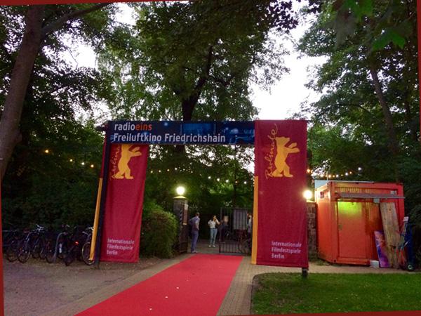 Eingang zum Freiluftkino Friedrichshain (Foto: Anne Schüchner)