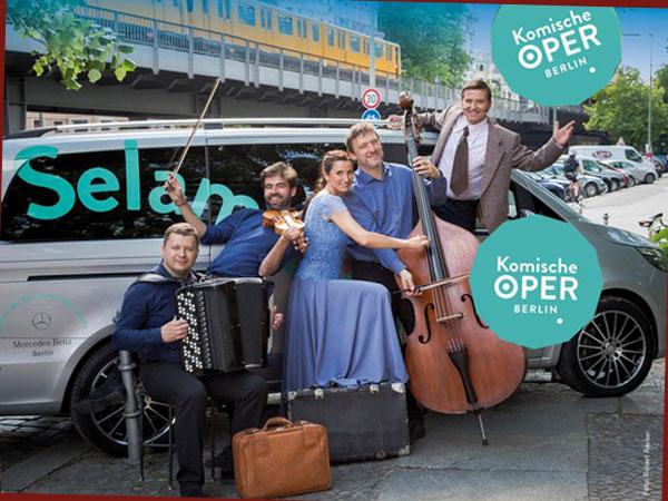 Plakat Musiker Komische Oper (Foto: gewobag/Komische Oper)