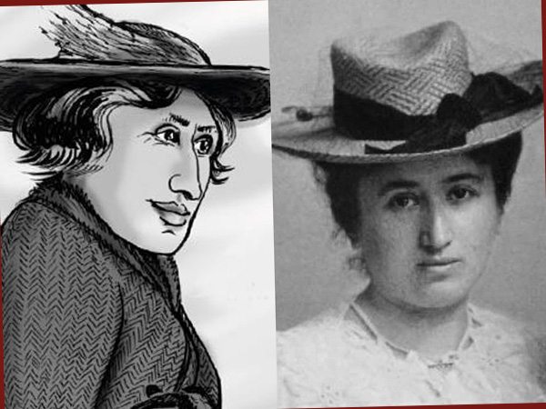 Collage Rosa Luxemburg (Comic von Kate Evans und Wikipedia)