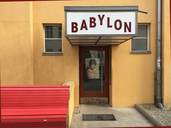 EIngang Studiokino Babylon (Foto: Anne Schüchner)