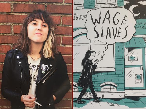 Collage Daria Bogdanska und ihre Graphic Novel (Foto: Anne Schüchner)