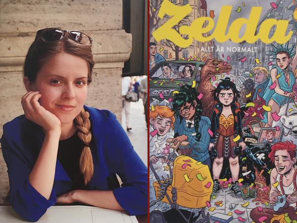 Collage Lina Neidestam und ihre Figur Zelda (Foto: Anne Schüchner)