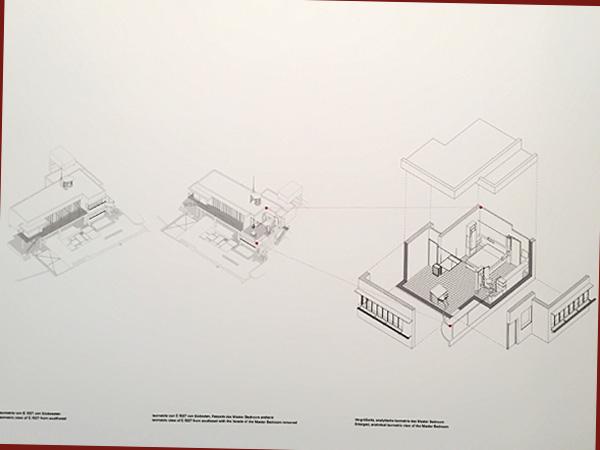 Isometrie des Masterbedroom von Eileen Green (Foto: Anne Schüchner)