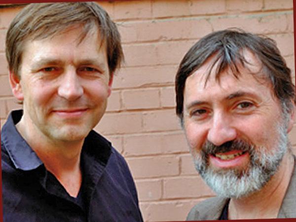 Festivalleiter Sebastian Brose und Hajo Schäfer (Foto: Anne Schüchner)