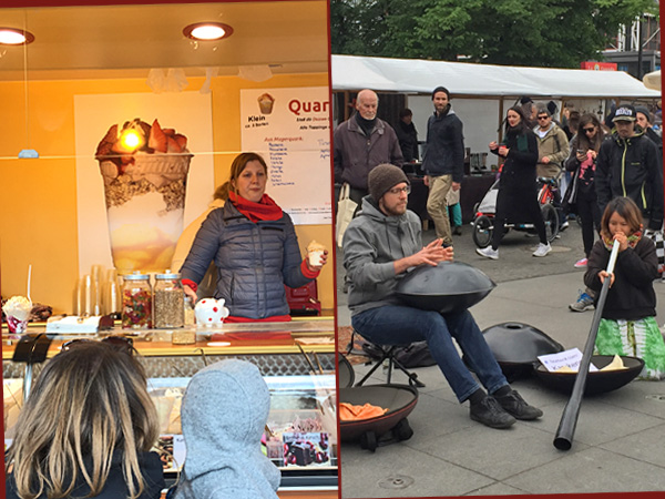 Quarkbar und Livemusik auf dem Weddingmarkt (Foto: Anne Schüchner)