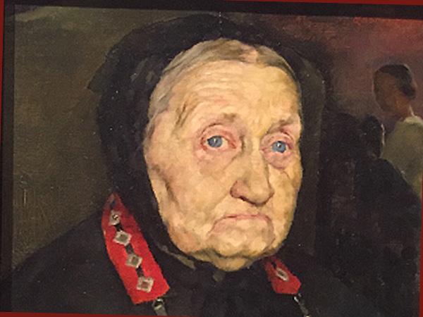 Lotte Laserstein:Bildauschnitt 'Meine Großmutter' um 1924 (Foto: AS)