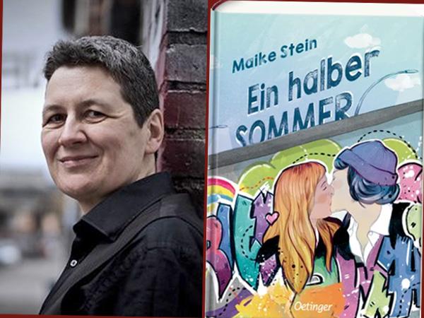 Collage Maike Stein, Cover zum Roman Ein halber Sommer (Foto: Oetinger-Verlag)