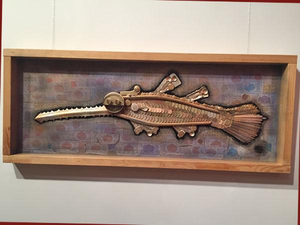 Schwertfisch aus recycelten Materialien (© Gabriel Feitel)