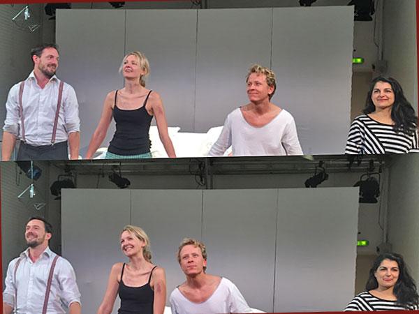Das Schauspieler Quartett (Foto: Anne Schüchner)