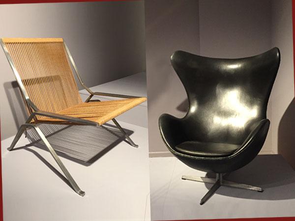 Sessel PK 25 von P. Kjærholm und Egg Chair von A. Jacobson (Foto: AS)