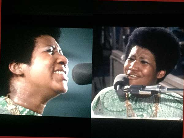 "Splitscreen: Aretha Franklin in ""Amazing Grace"" (Foto: AS/Warner Bros)"