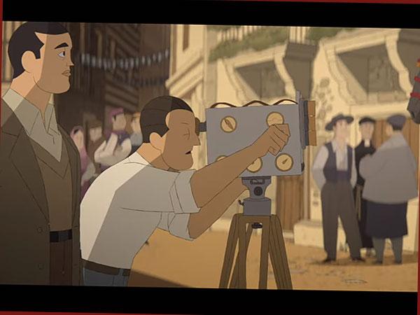 """Szene aus dem Animationsfilm """"Im Labyrinth der Schildkröten)"""