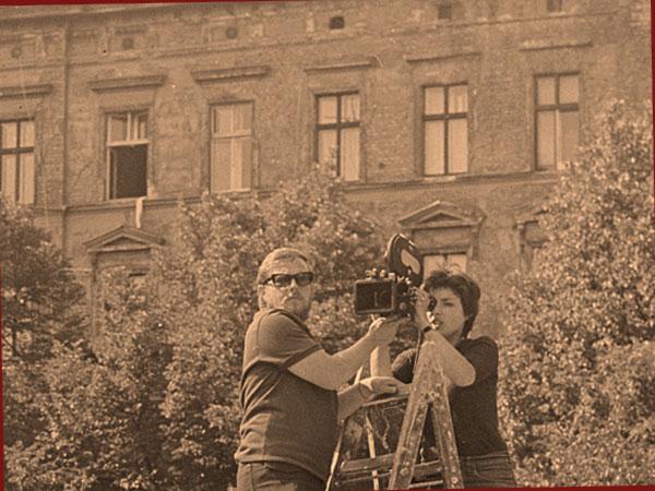 """Dreharbeiten zu """"Die Kollwitz und ihre Kinder"""" 1971 (© Christa Mühl)"""