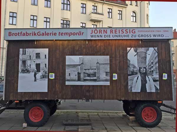 Temporäre Galerie der Brotfabrik (Foto: Anne Schüchner